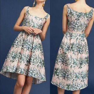 Eva Franco Pink Floral Jacquard Dress